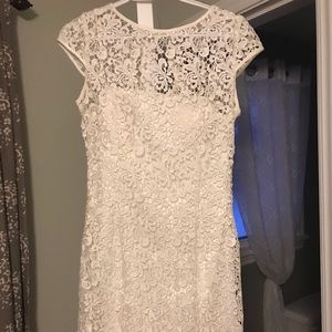 Adrianna Papell white lace dress
